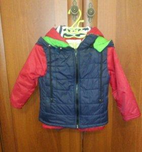 Куртка+безрукавка