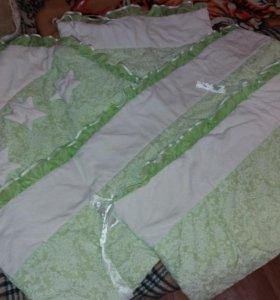 Бортики в кровать