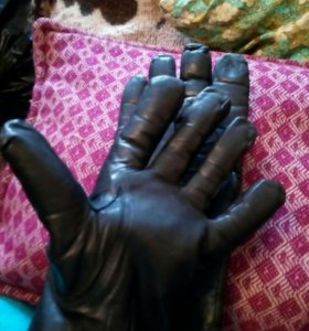 Перчатки мужские (кожаные)