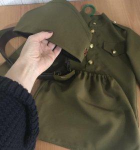 Военный костюм из габардина