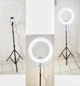 Кольцевая лампа круговая диаметр 48.5 на штативе