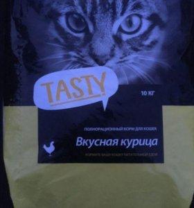 Tasty для кошек c курицей, 10 кг
