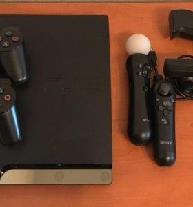 PS3 slim rebug+любые игры+fifa 18