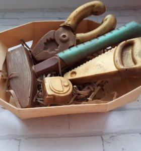 Шоколадное поздравление (буквы)
