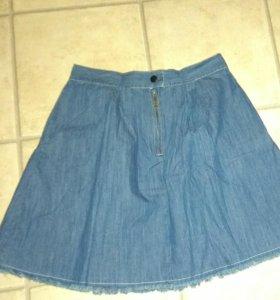 Юбка джинсовая легкая новая