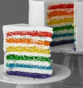 Цветные тортик
