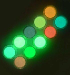 Неоновый флуоресцентный пигмент втирка порошок