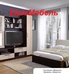 Кровать 1600*2000 венге. кожа (Россия)