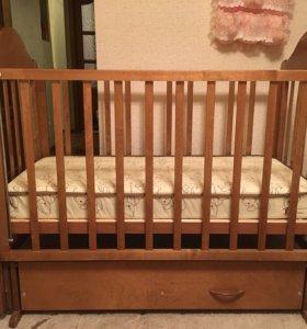 Кровать детская+ матрац ортопедический