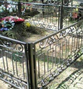 Ограды,столы и лавочки