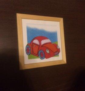 Картина, детская «машинка»