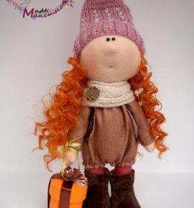 Текстильная интерьерная кукла Гнома