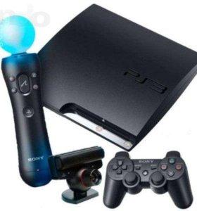 Продам Sony PlayStation 3 + геймпад и вр джостик