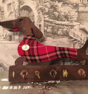 Ключница( ручная работа) Собака-символ года!