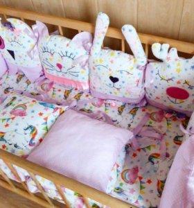 Бортики в кроватку, конверты, буквы и многое др.