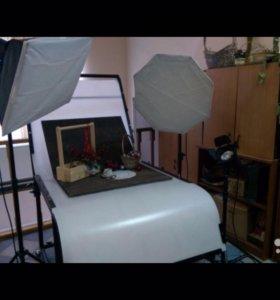 Светобоксы и стол для предметной съемки