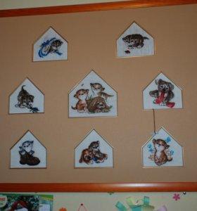 Вышитая картина в детскую комнату