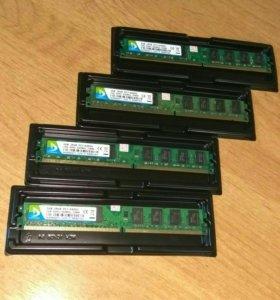 ddr2 PC2-6400 800 МГц по 2 Гига