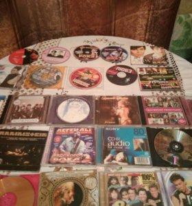 Диски много CD, MP3 и DVD