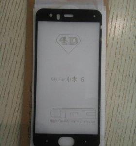 Стекло 4d Xiaomi Mi6