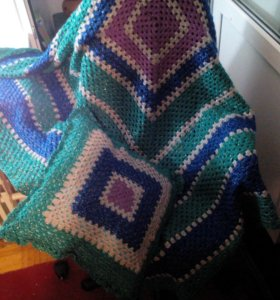 Плед и подушка ручной работы