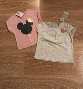 Новые футболки Zara рост 92