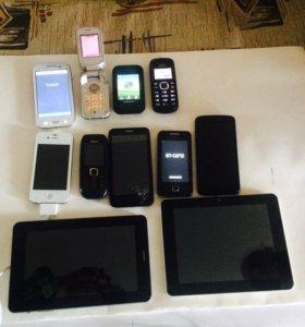 Телефоны+планшеты