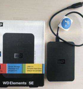 Переносной жёсткий диск WD Elements SE 1TB