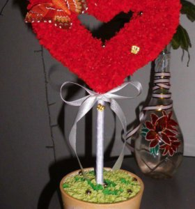 Топиарий валентинка
