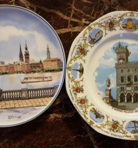 Настенные тарелки Гамбург и Сан-Марино