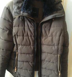куртка зимняя zara с мехом