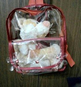 Детские прозрачные рюкзачки ручной работы на заказ