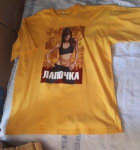 Желтая футболка лапочка размер 54