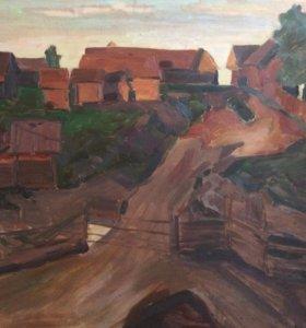 Картина «Въезд в деревню»