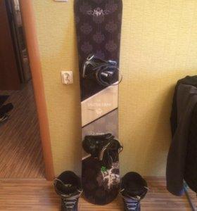 Сноуборд с креплением