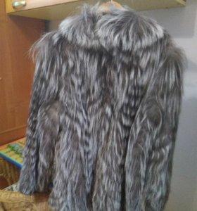 Кожаная куртка-шубка