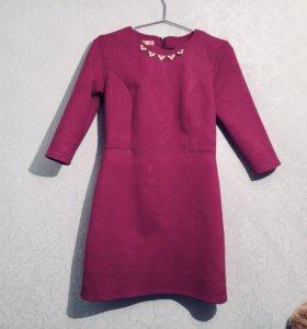 Платье замшевое новое🔥