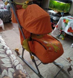 Санки-коляска детская Ника 5