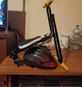 Велокресло детское +каска