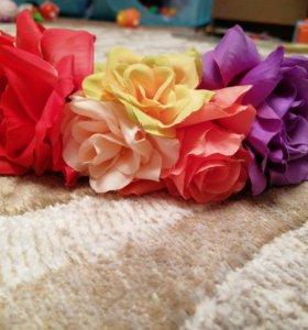 Ободок цветы