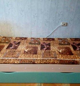 Кровать для взрослых, 2 спальных места + 2 матраса
