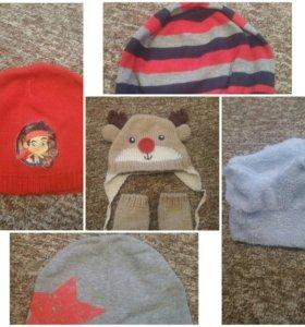 Осенние шапочки от 1 года до 2 лет