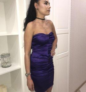 Атласное платье -футляр