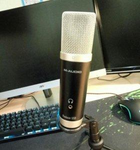 Конденсаторный микрофон M-audio producer usb