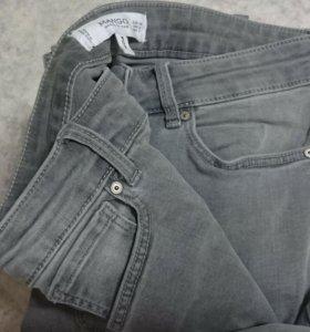 джинсы серые средней посадки MANGO, EUR 36