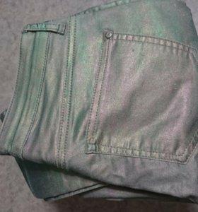 джинсы метализированные