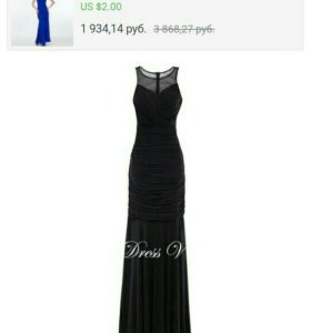 Черное вечернее платье.