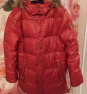 Куртка зимняя пух для мальчика 156-164рост sela
