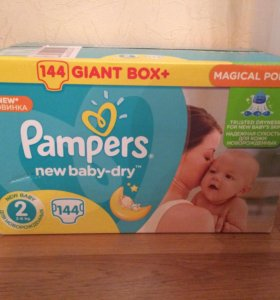 Pampers new baby-dry 144 шт, р 2