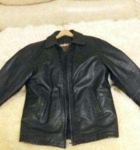 Кожаная зимняя куртка мужская 50р-р